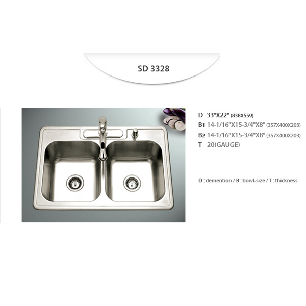 Stainless Sinks - SD3328